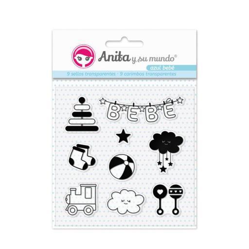SET DE SELLOS AZUL BEBE ANITA Y SU MUNDO