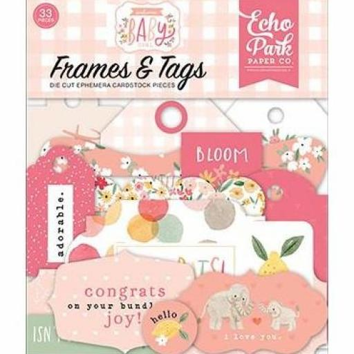 FRAMES & TAGS WELCOME BABY GIRL ECHO PARK