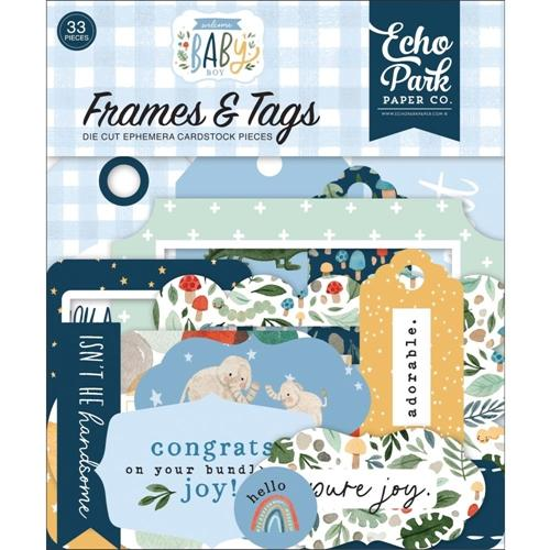 FRAMES & TAGS WELCOME BABY BOY  ECHO PARK