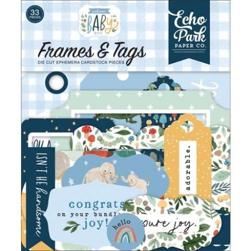 FRAMES & TAGS WELCOME BABY BOY  ECHO PARK [0]