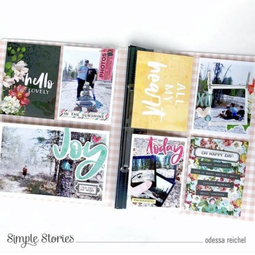 FLIPBOOK ALBUM SN@P! VINTAGE FLORAL SV COTTAGE FIELDS SIMPLE STORIES 15X20CM [3]