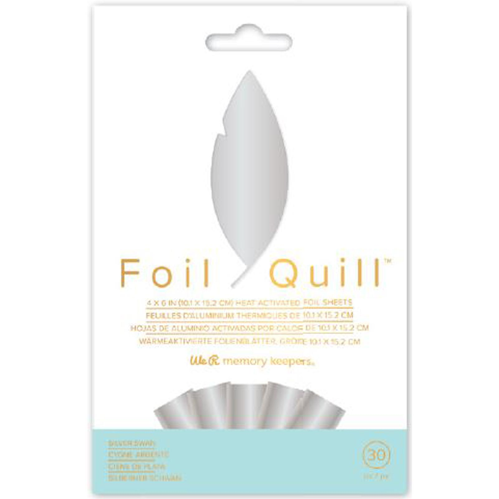 KIT HOJAS FOIL QUILL SILVER SWAN