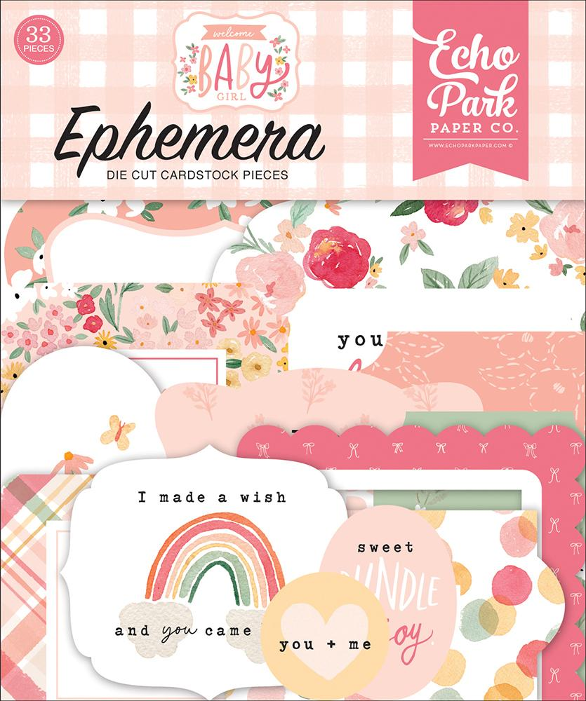EPHEMERA WELCOME BABY GIRL ECHO PARK