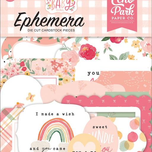 EPHEMERA WELCOME BABY GIRL ECHO PARK [0]