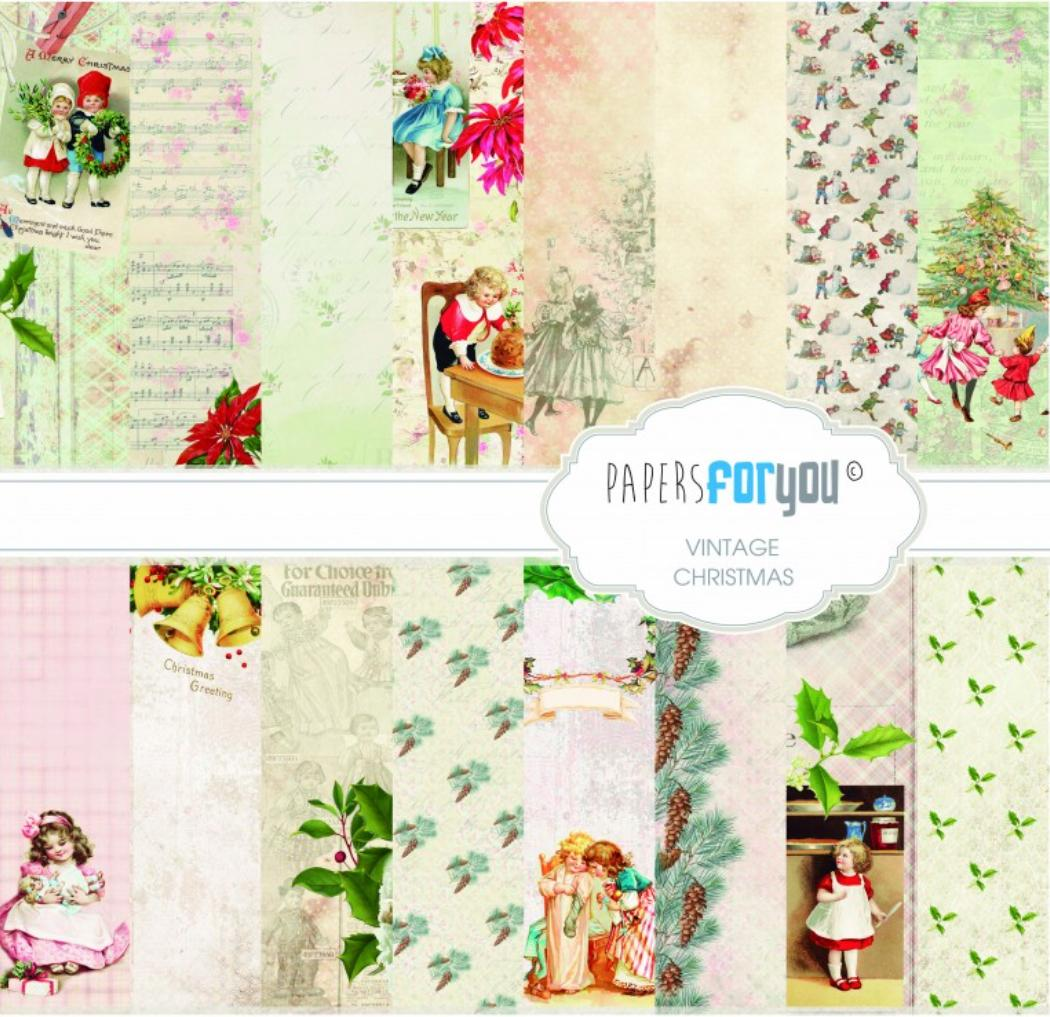 SET DE PAPELES VINTAGE CHRISTMAS TIME PAPERS FOR YOU