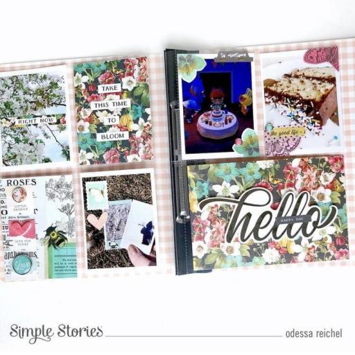 FLIPBOOK ALBUM SN@P! VINTAGE FLORAL SV COTTAGE FIELDS SIMPLE STORIES 15X20CM [2]