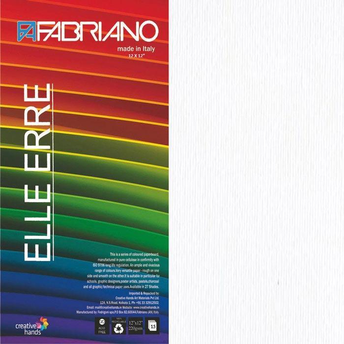 CARTULINA O CARDSTOCK TEXTURIZADA LISO/RUGOSO BLANCO FABRIANO