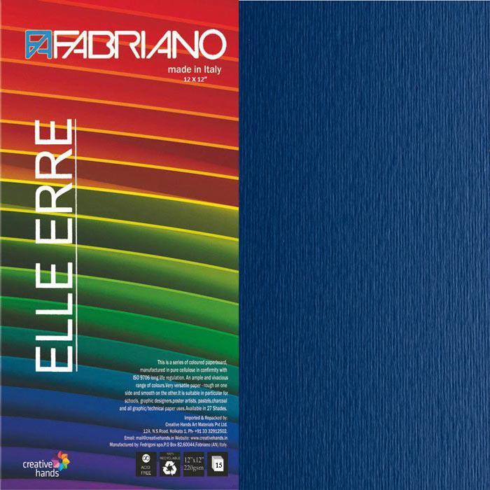 CARTULINA O CARDSTOCK TEXTURIZADA LISO/RUGOSO BLEU FABRIANO