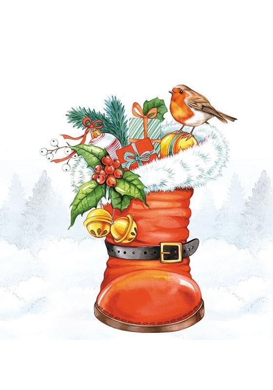 SERVILLETA CHRISTMAS BOOT AMBIENTE