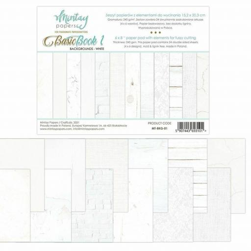 SET DE PAPELES BASIC BOOK 1 WHITE MINTAY PAPERS