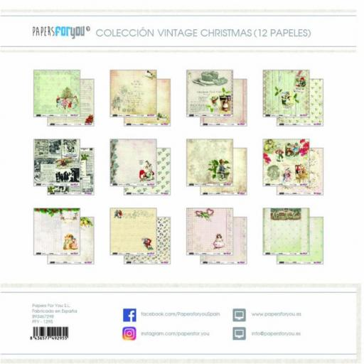 SET DE PAPELES VINTAGE CHRISTMAS TIME PAPERS FOR YOU [1]