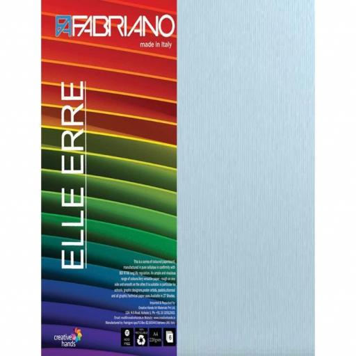 CARTULINA O CARDSTOCK TEXTURIZADA LISO/RUGOSO CELESTE FABRIANO