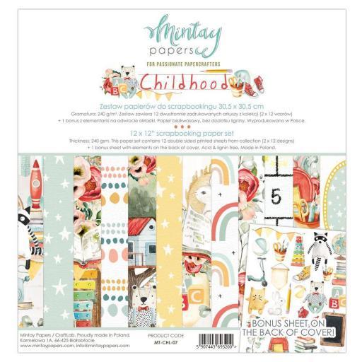 SET DE PAPELES CHILDHOOD MINTAY PAPERS