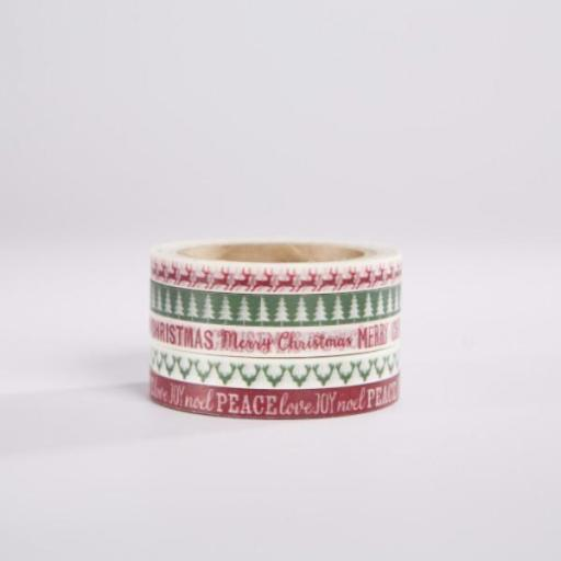 SET 5 WASHI TAPE CHRISTMAS GIFT