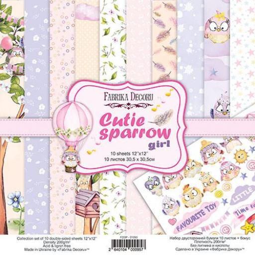 SET DE PAPELES CUTIE SPARROW GIRL FABRIKA DECORU