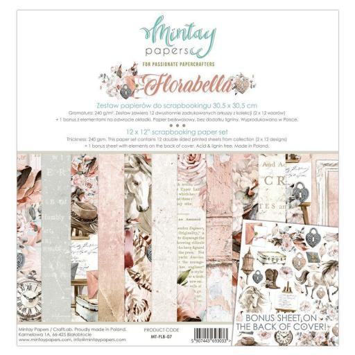 SET DE PAPELES FLORABELLA MINTAY PAPERS
