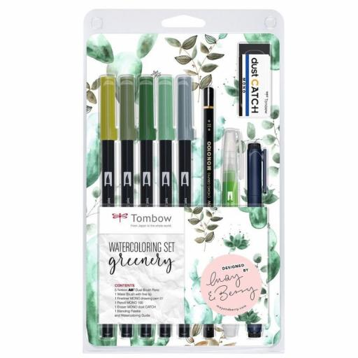 SET GREENERY WATERCOLORING TOMBOW
