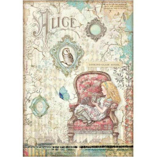 PAPEL DE ARROZ HOUSE ALICE THROUGH THE LOOKING GLASS STAMPERIA