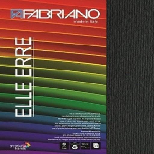 CARTULINA O CARDSTOCK TEXTURIZADA LISO/RUGOSO NERO FABRIANO