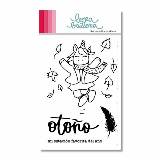 SET DE SELLOS OTOÑO LORA BAILORA