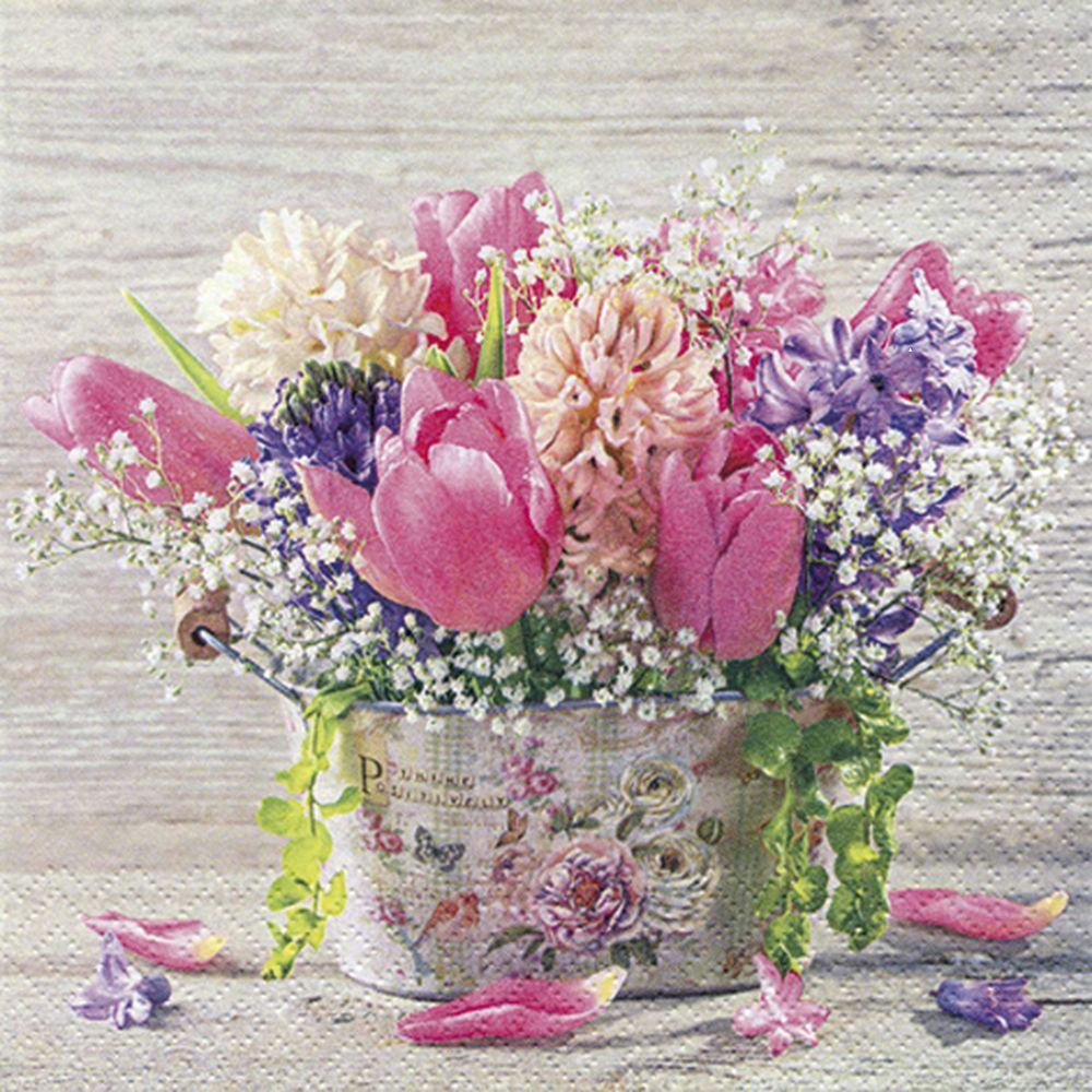 SERVILLETA PASTELL SPRING FLOWERS TI FLAIR