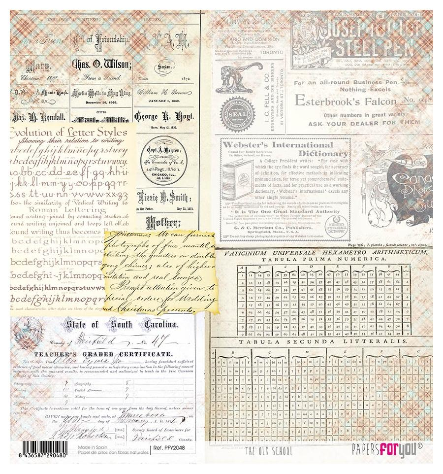 PAPEL DE ARROZ THE OLD SCHOOL PAPERS FOR YOU