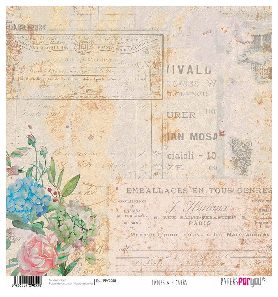 PAPEL DE ARROZ LADIES & FLOWERS PAPERS FOR YOU