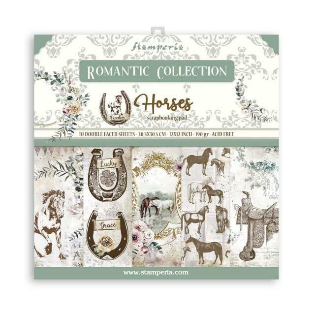 SET DE PAPELES ROMANTIC COLLECTION HORSES STAMPERIA