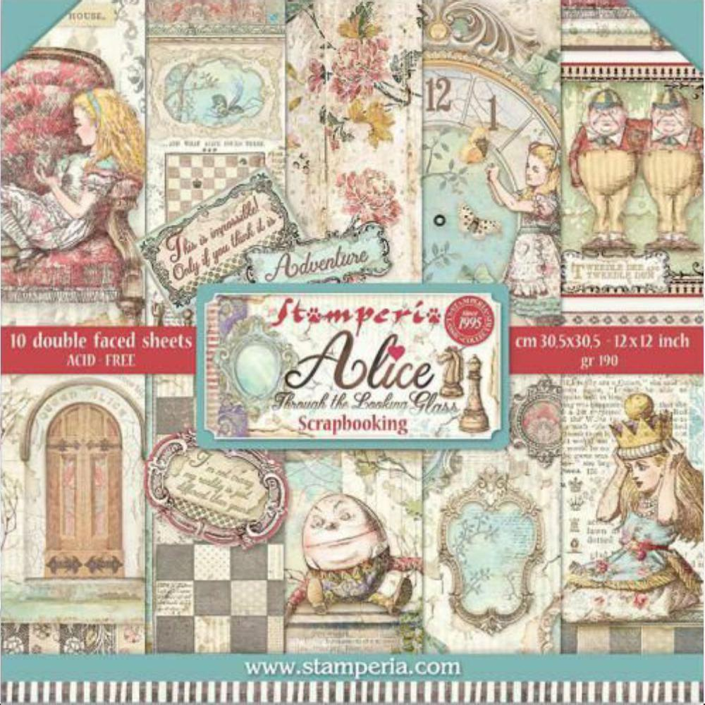 SET DE PAPELES ALICE THROUGH THE LOOKING GLASS STAMPERIA