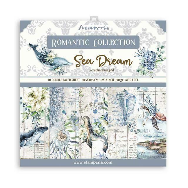 SET DE PAPELES ROMANTIC COLLECTION SEA DREAM STAMPERIA