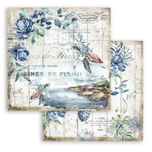 SET DE PAPELES ROMANTIC COLLECTION SEA DREAM STAMPERIA [3]