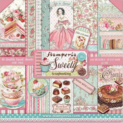 SET DE PAPELES SWEETY STAMPERIA