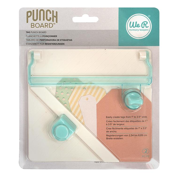 TAG PUNCH BOARD WE R MEMORY KEEPERS