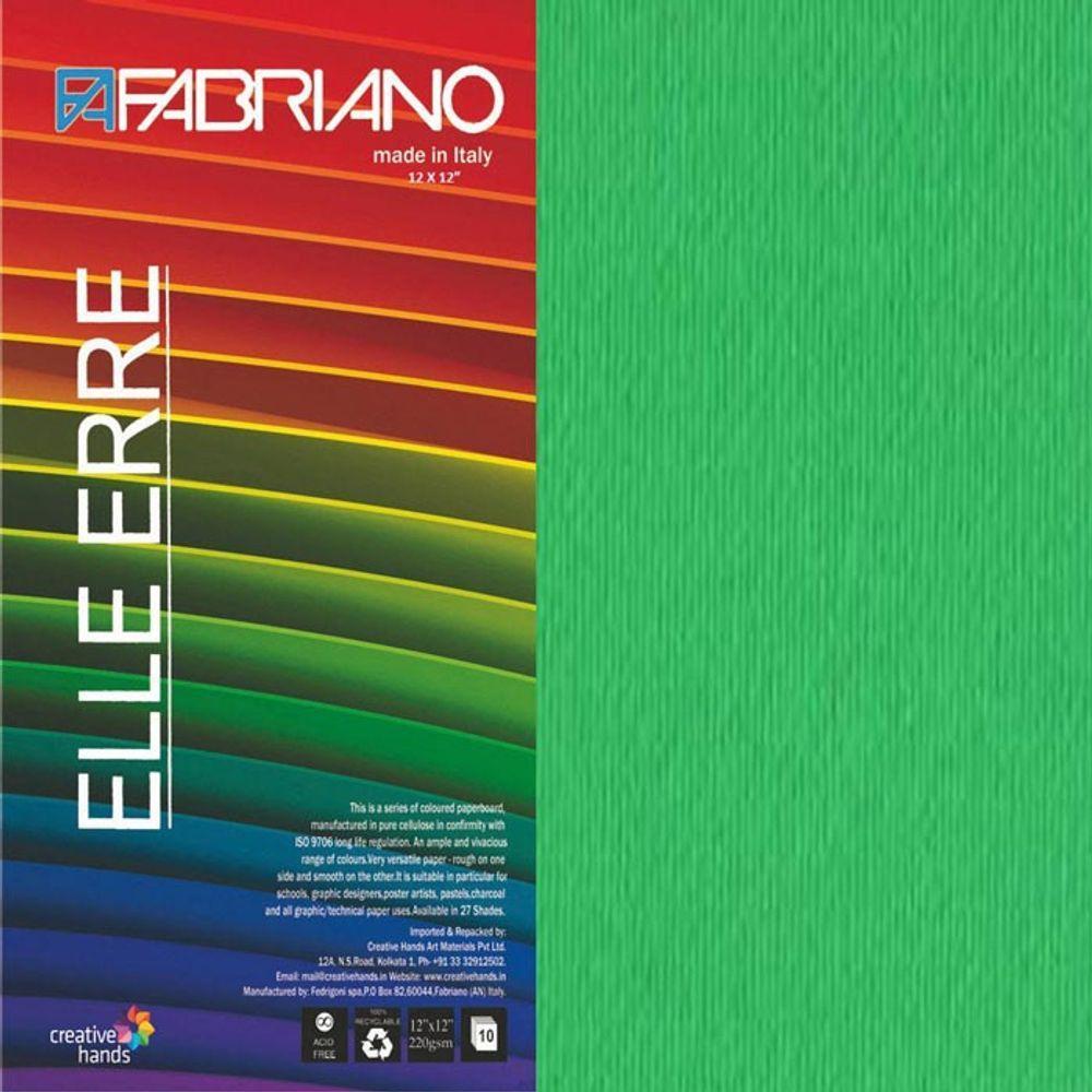CARTULINA O CARDSTOCK TEXTURIZADA LISO/RUGOSO VERDE PISELLO FABRIANO