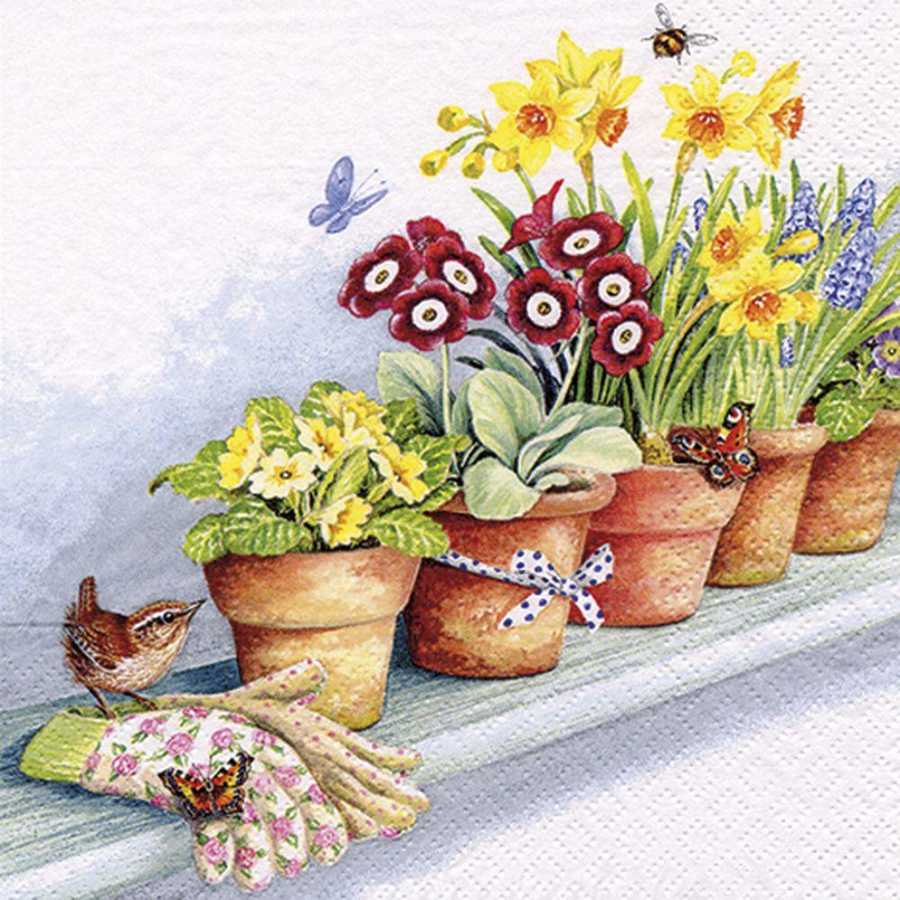 SERVILLETA WINDOWSILL WITH FLOWER POTS TI FLAIR