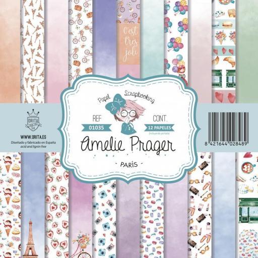SET DE PAPELES PARIS AMELIE PRAGER