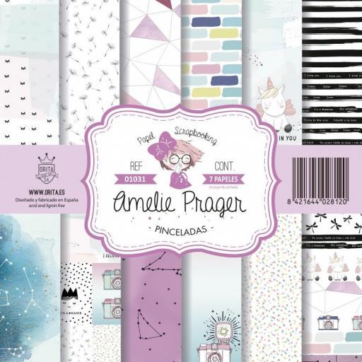 SET DE PAPELES PINCELADAS AMELIE PRAGER