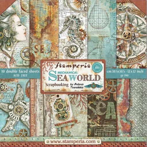 SET DE PAPELES MECHANICAL SEA WORLD STAMPERIA
