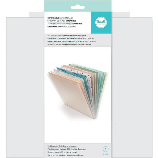 EXPANDABLE PAPER STORAGE WE R MEMORY KEEPERS