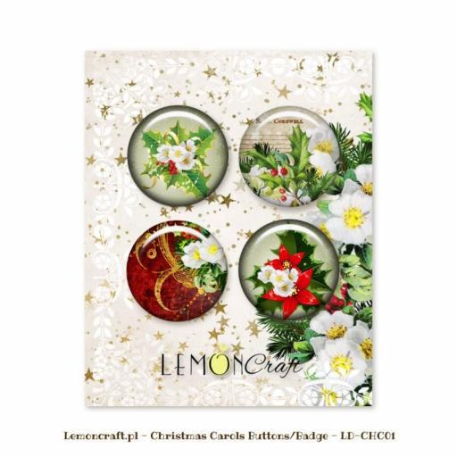 BOTONES O CHAPAS CHRISTMAS CAROLS LEMONCRAFT