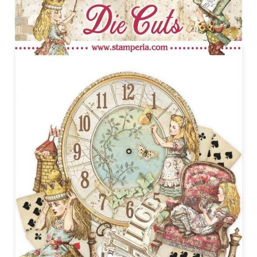 DIE CUTS ALICE THROUGH THE LOOKING GLASS STAMPERIA