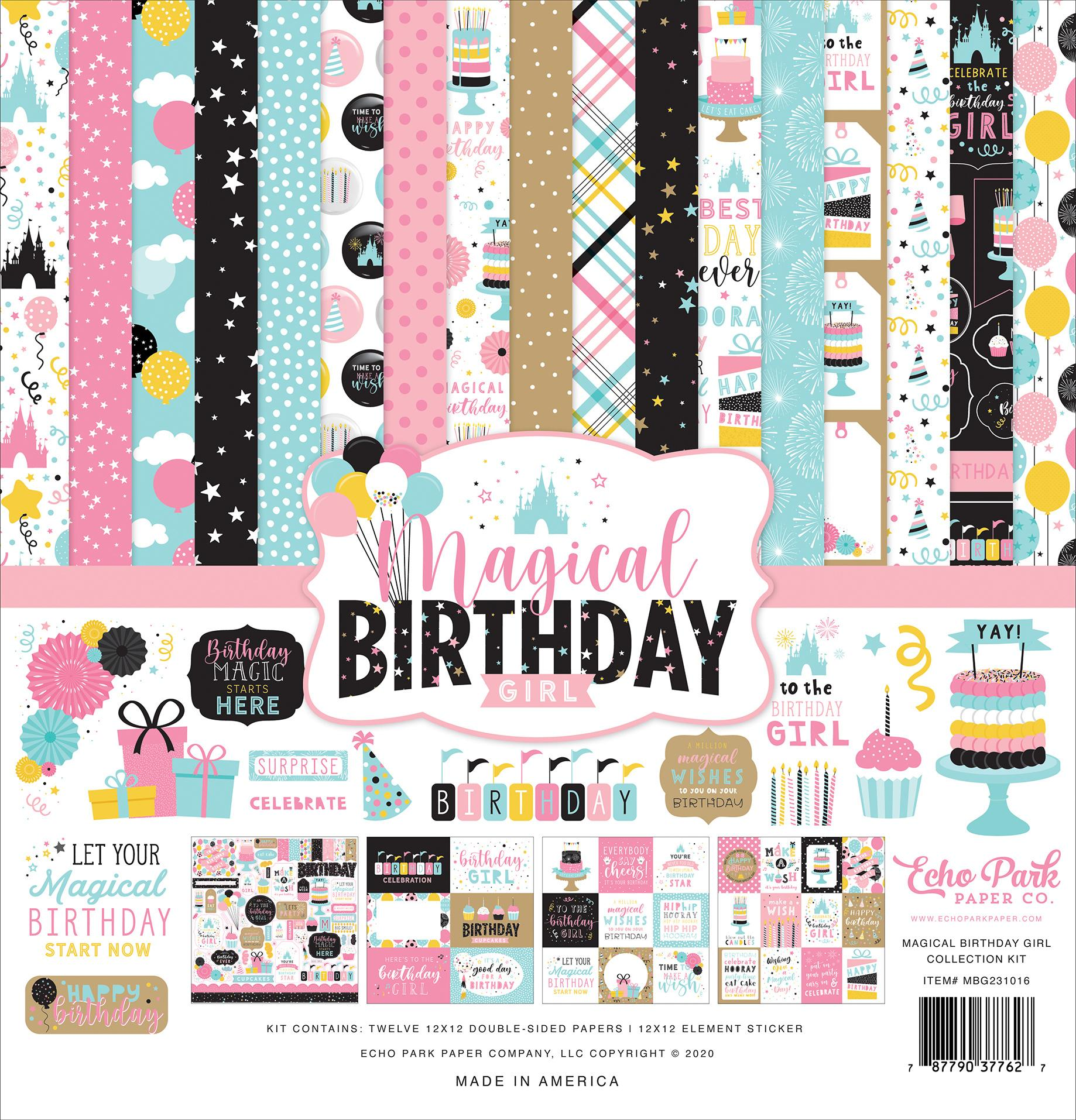 KIT DE PAPELES MAGICAL BIRTHDAY GIRL ECHO PARK
