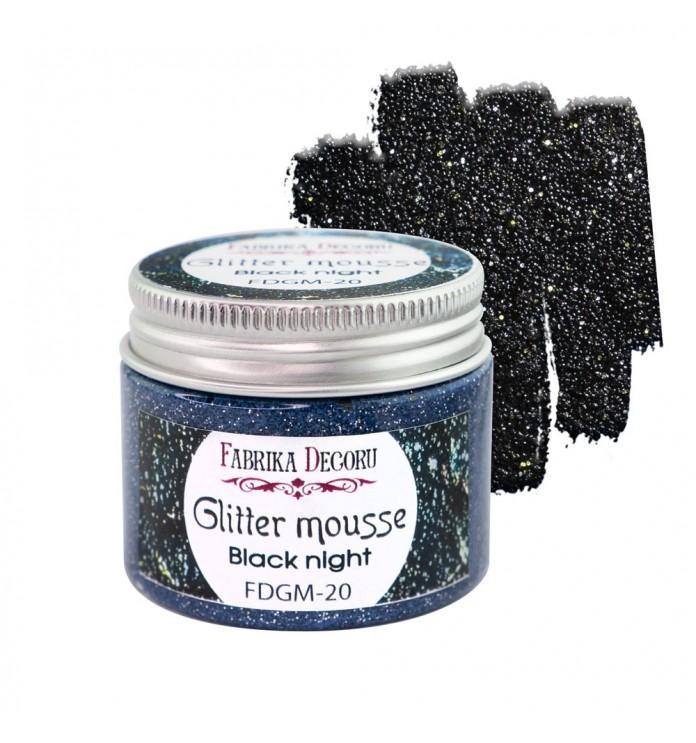 GLITTER MOUSSE BLACK NIGHT FABRIKA DECORU