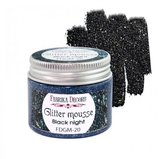 GLITTER MOUSSE BLACK NIGHT FABRIKA DECORU