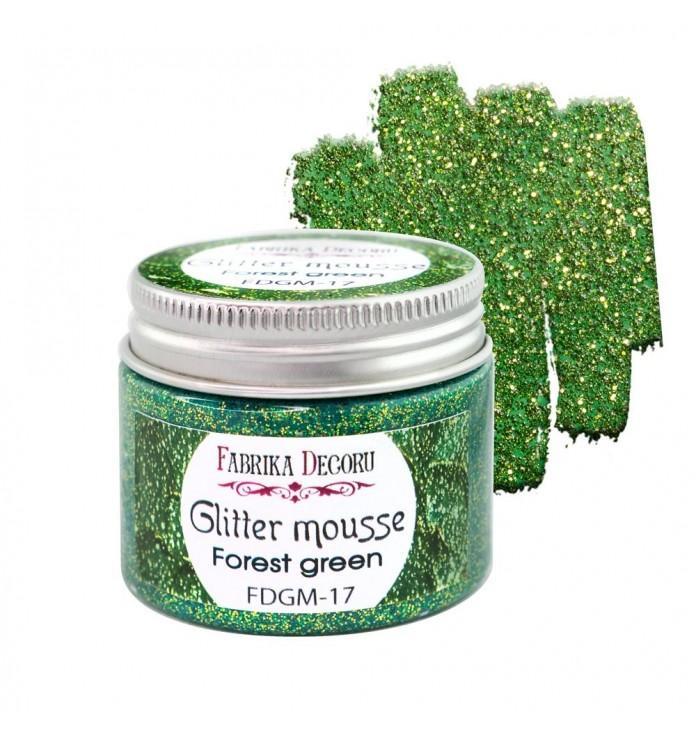 GLITTER MOUSSE FOREST GREEN FABRIKA DECORU