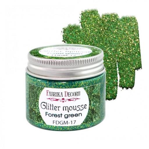GLITTER MOUSSE FOREST GREEN FABRIKA DECORU