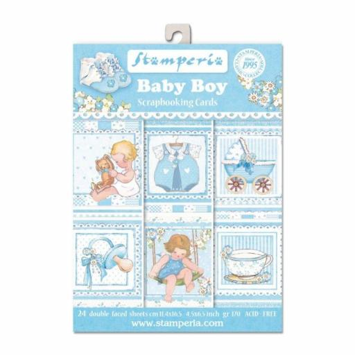 SET DE TARJETAS BABY BOY STAMPERIA
