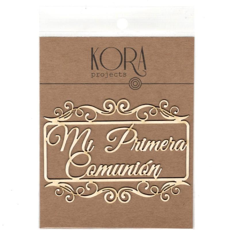 MADERITAS MI PRIMERA COMUNION EN MARCO RECTANGULAR KORA PROJECTS