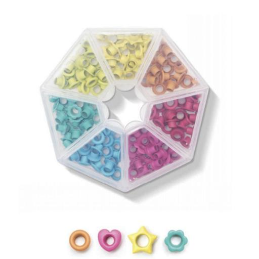 CAJA DE OJALES DE FORMAS COLOR BRILLANTES WE R MEMORY KEEPERS [1]