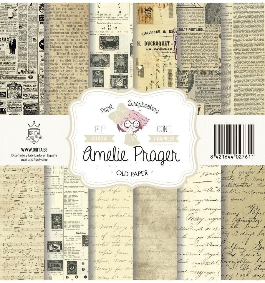 SET DE PAPELES OLD PAPER AMELIE PRAGER